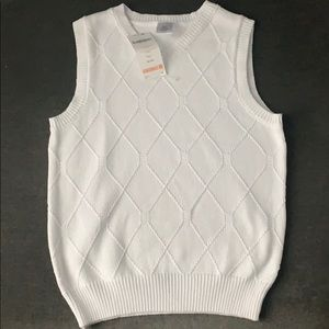 Gymboree boys sweater vest white